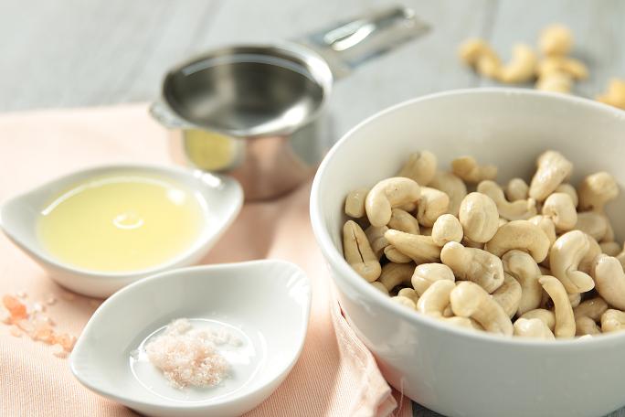Ingrédients de la crème de cajou
