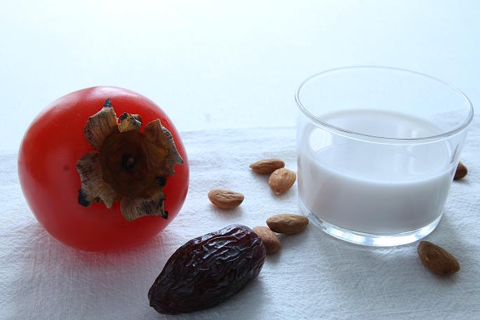Ingrédients-crème de kaki-date