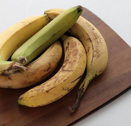 Bananes mûres et non mûres