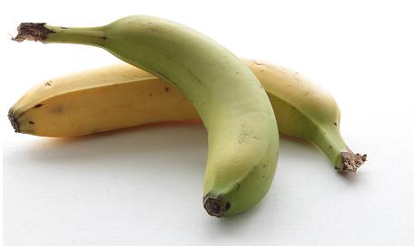Bananes non mûres
