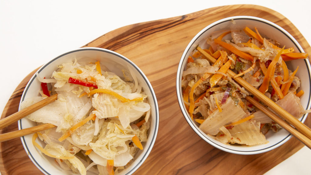 Kimchi avec et sans piment