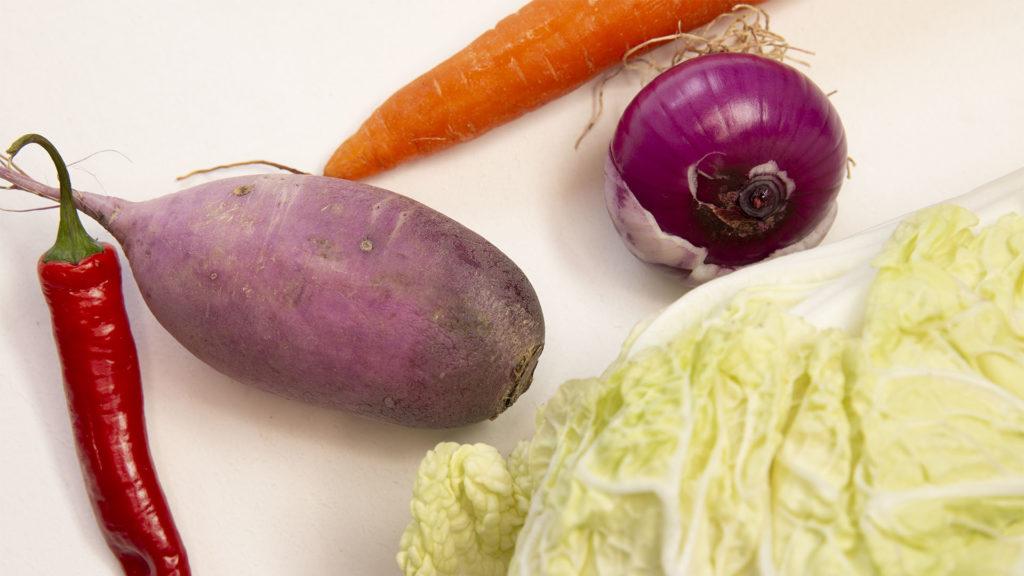 Légumes du kimchi